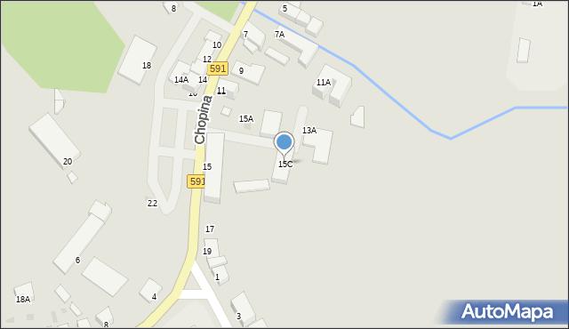Kętrzyn, Chopina Fryderyka, 15C, mapa Kętrzyn