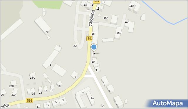 Kętrzyn, Chopina Fryderyka, 17, mapa Kętrzyn