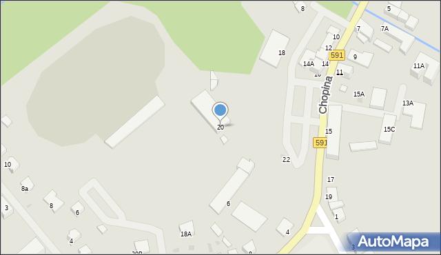Kętrzyn, Chopina Fryderyka, 20, mapa Kętrzyn