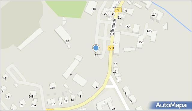 Kętrzyn, Chopina Fryderyka, 22, mapa Kętrzyn