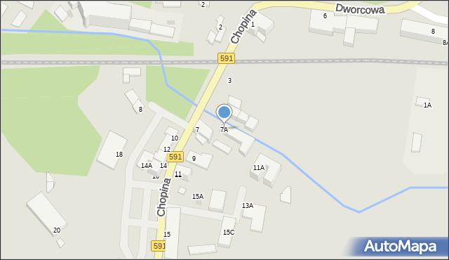 Kętrzyn, Chopina Fryderyka, 7A, mapa Kętrzyn