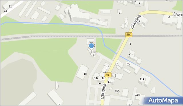Kętrzyn, Chopina Fryderyka, 8A, mapa Kętrzyn