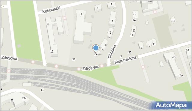 Kołobrzeg, Chopina Fryderyka, 10, mapa Kołobrzegu