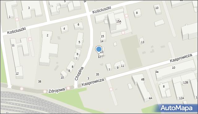 Kołobrzeg, Chopina Fryderyka, 12, mapa Kołobrzegu