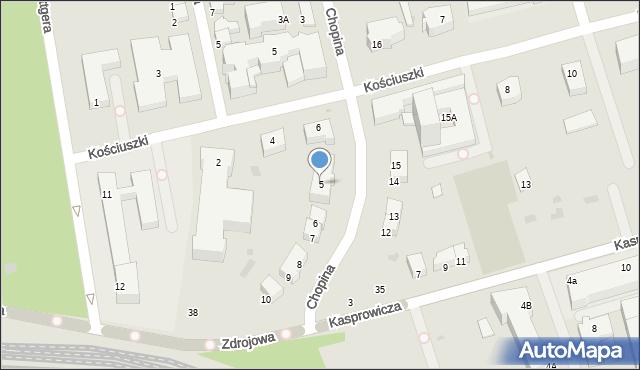 Kołobrzeg, Chopina Fryderyka, 5, mapa Kołobrzegu