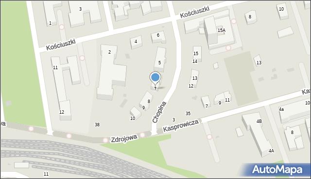 Kołobrzeg, Chopina Fryderyka, 7, mapa Kołobrzegu