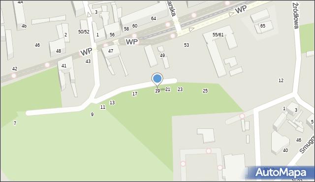 Łódź, Chłodna, 19, mapa Łodzi