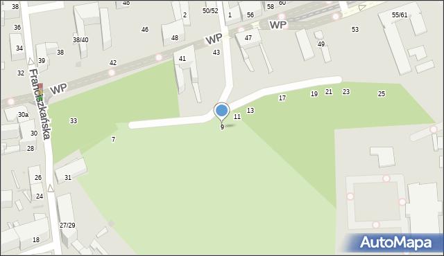 Łódź, Chłodna, 9, mapa Łodzi