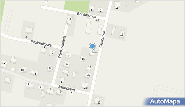Luzino, Chabrowa, 14, mapa Luzino