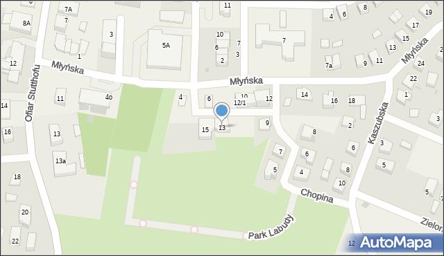 Luzino, Chopina Fryderyka, 13, mapa Luzino