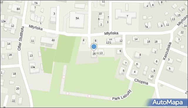 Luzino, Chopina Fryderyka, 15, mapa Luzino