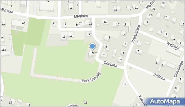 Luzino, Chopina Fryderyka, 5, mapa Luzino