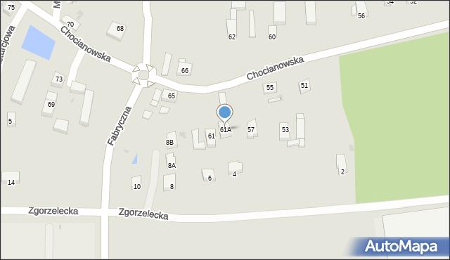 Polkowice, Chocianowska, 61A, mapa Polkowice