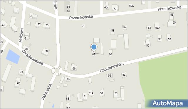 Polkowice, Chocianowska, 62, mapa Polkowice