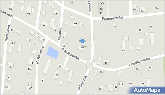 Polkowice, Chocianowska, 68, mapa Polkowice