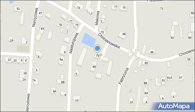 Polkowice, Chocianowska, 73, mapa Polkowice