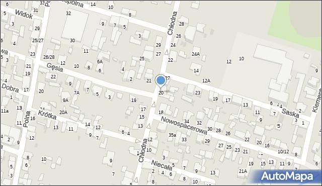 Radom, Chłodna, 20, mapa Radomia