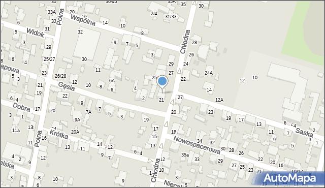 Radom, Chłodna, 23, mapa Radomia