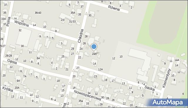 Radom, Chłodna, 24A, mapa Radomia