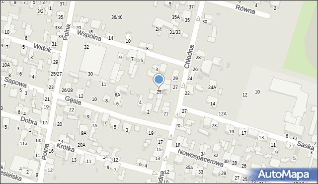 Radom, Chłodna, 25, mapa Radomia