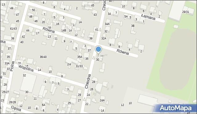 Radom, Chłodna, 30A, mapa Radomia
