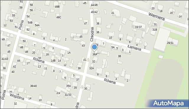 Radom, Chłodna, 34A, mapa Radomia
