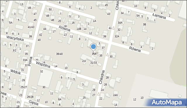 Radom, Chłodna, 35A, mapa Radomia