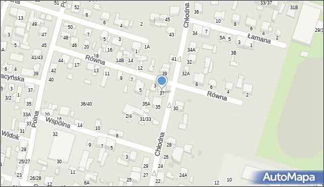 Radom, Chłodna, 37, mapa Radomia
