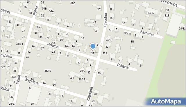 Radom, Chłodna, 39, mapa Radomia