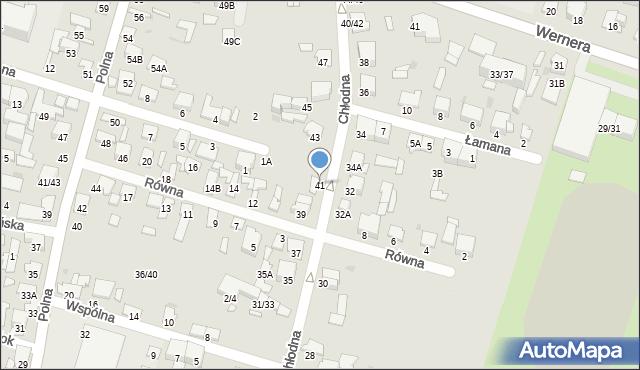 Radom, Chłodna, 41, mapa Radomia
