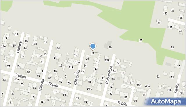 Radom, Chłopska, 18, mapa Radomia