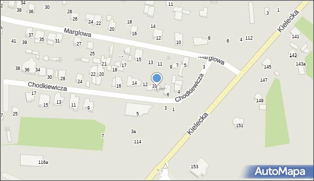 Radom, Chodkiewicza Jana Karola, hetm., 8, mapa Radomia