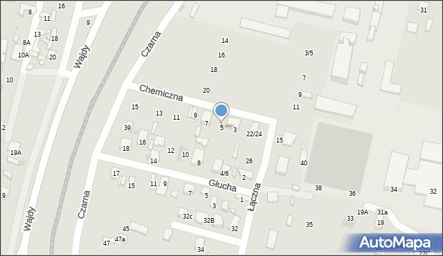 Radom, Chemiczna, 5, mapa Radomia
