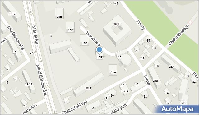 Radom, Chałubińskiego Tytusa, 15B, mapa Radomia
