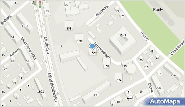 Radom, Chałubińskiego Tytusa, 15C, mapa Radomia