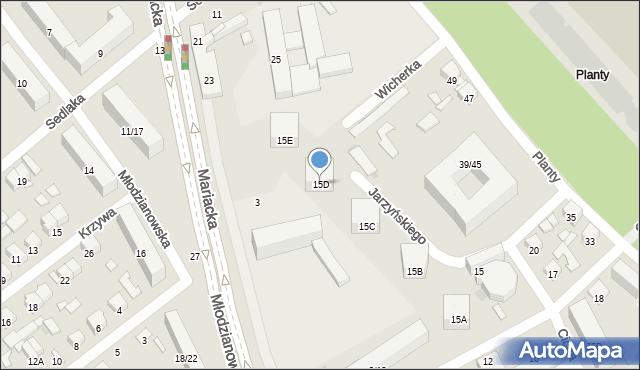 Radom, Chałubińskiego Tytusa, 15D, mapa Radomia