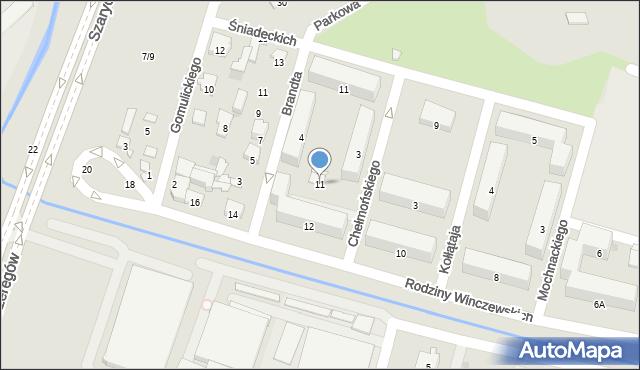 Radom, Chełmońskiego Józefa, 11, mapa Radomia