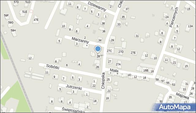 Ruda Śląska, Chłopska, 28, mapa Rudy Śląskiej