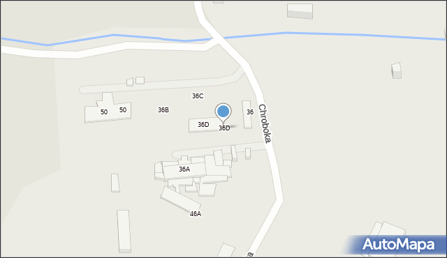 Ruda Śląska, Chroboka Maksymiliana, 36D, mapa Rudy Śląskiej