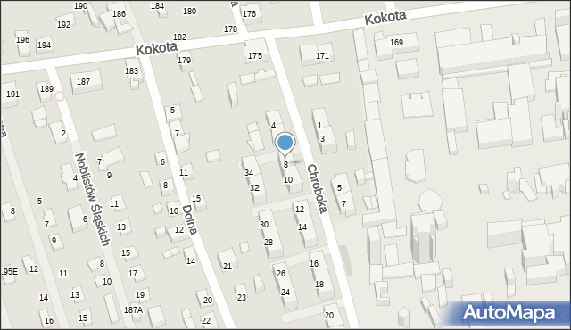 Ruda Śląska, Chroboka Maksymiliana, 8, mapa Rudy Śląskiej
