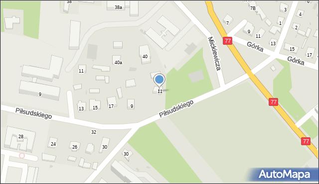 Rudnik nad Sanem, Chopina Fryderyka, 11, mapa Rudnik nad Sanem