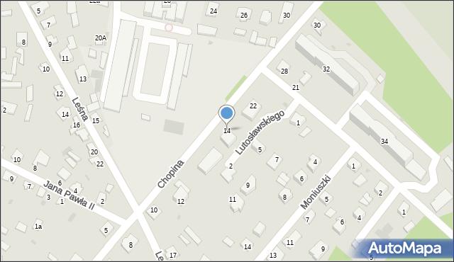 Rudnik nad Sanem, Chopina Fryderyka, 14, mapa Rudnik nad Sanem