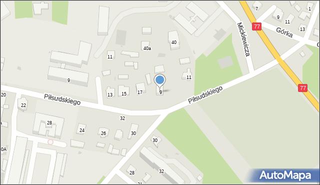 Rudnik nad Sanem, Chopina Fryderyka, 9, mapa Rudnik nad Sanem