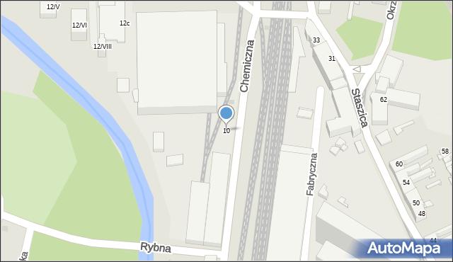 Sosnowiec, Chemiczna, 10, mapa Sosnowca