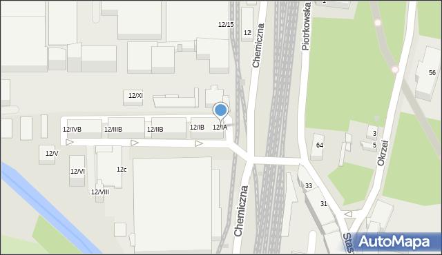 Sosnowiec, Chemiczna, 12/IA, mapa Sosnowca