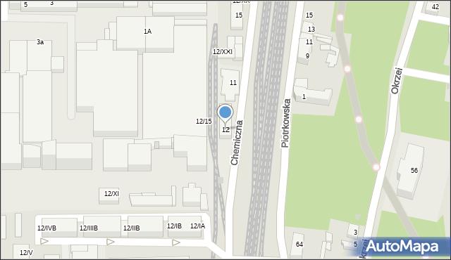 Sosnowiec, Chemiczna, 12, mapa Sosnowca