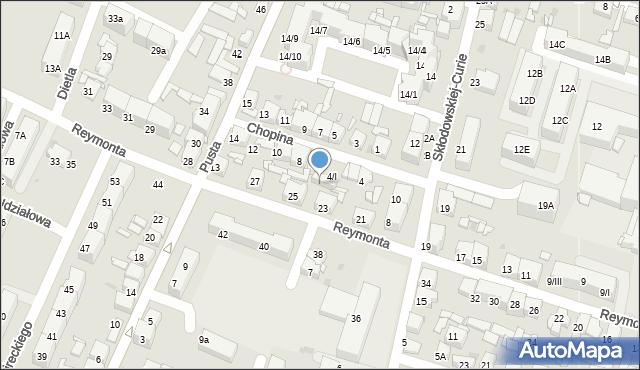 Sosnowiec, Chopina Fryderyka, 6, mapa Sosnowca
