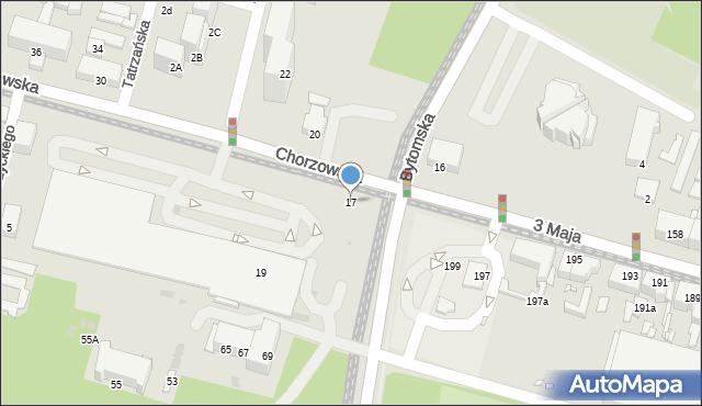 Świętochłowice, Chorzowska, 17, mapa Świętochłowice