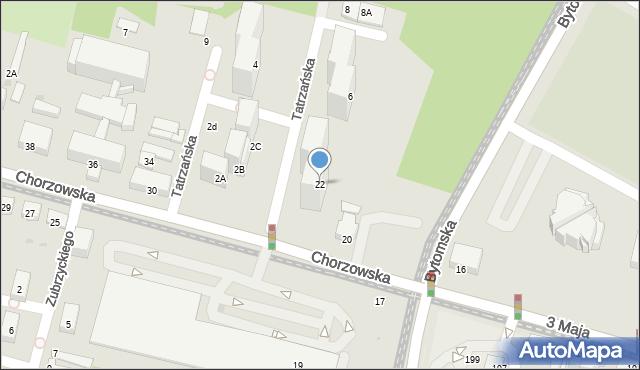 Świętochłowice, Chorzowska, 22, mapa Świętochłowice