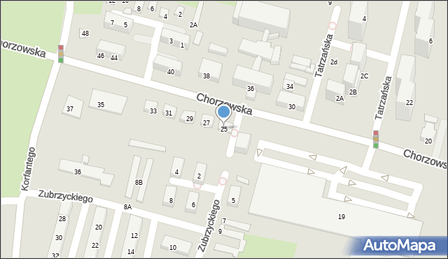 Świętochłowice, Chorzowska, 25, mapa Świętochłowice